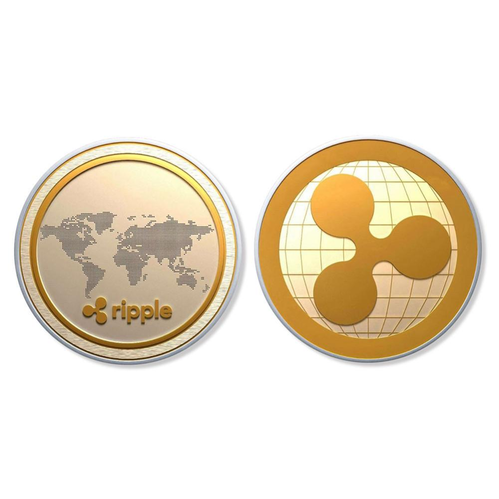 40mm Gold-Plated Commemorative Ripple Coin (HODL!)-Coindrobe