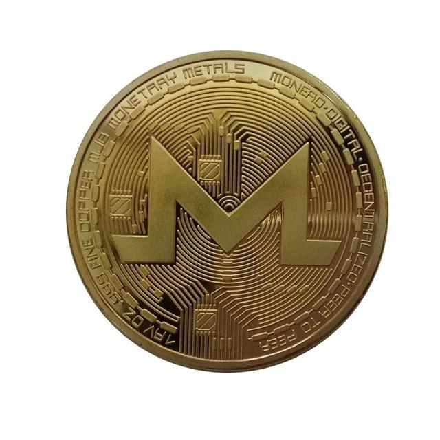 40mm Gold/Silver-Plated Commemorative Monero Coin (HODL!)-Coindrobe