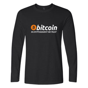 'In Cryptography We Trust' Longsleeve T-Shirt (Various Colors)-Coindrobe