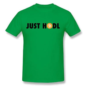 'Just HODL' Bitcoin T-Shirt (Various Colors)-Coindrobe
