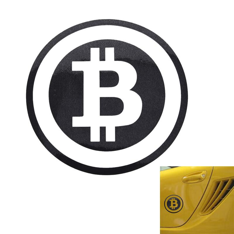 Large Vinyl Bitcoin Car Sticker [Perfect For Lambos!] (Various Colors)-Coindrobe