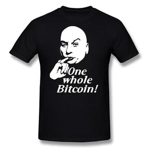 'One Whole Bitcoin!' T-Shirt (Various Colors)-Coindrobe