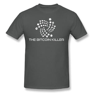 Vintage T Shirts 4XL IOTA Blockchain Project The Bitcoin Killer Plain T-Shirts Men Round Collar Short Sleeve Tees Casual Style