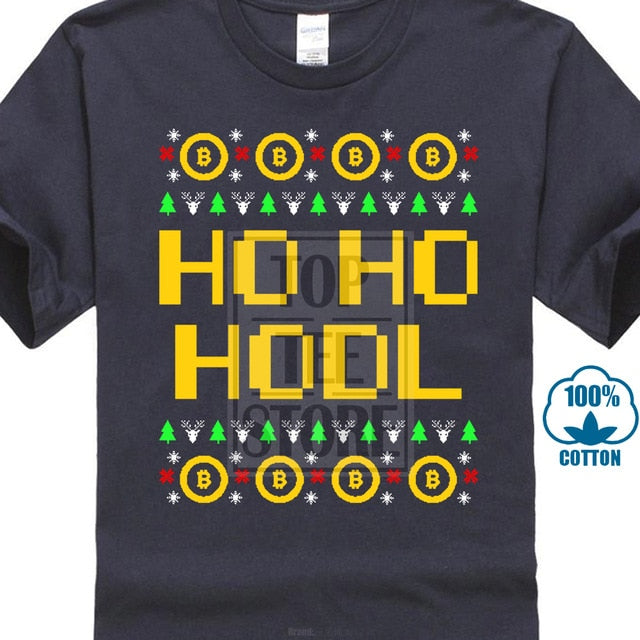 'Ho Ho HODL' Ugly Sweater T-Shirt (Various Colors) [Perfect for Christmas Parties!]