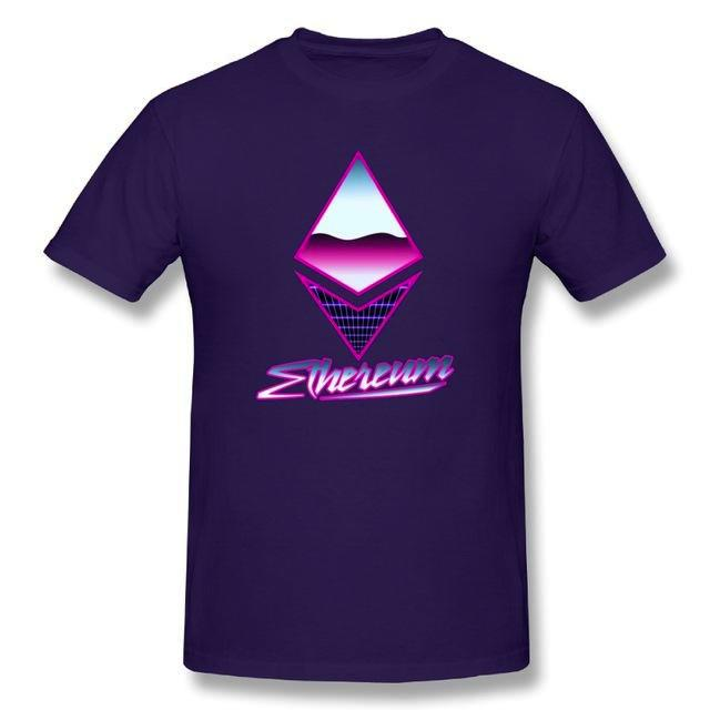 'Retro Ethereum' T-Shirt (Various Colors)-Coindrobe