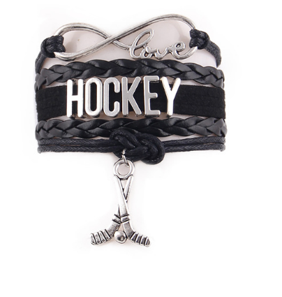 Black Hockey Bracelet