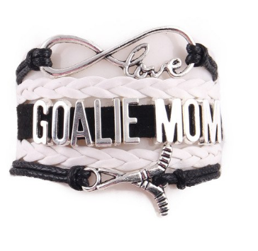 White Goalie Mom Bracelet