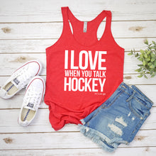 Talk Hockey Racerback Tank