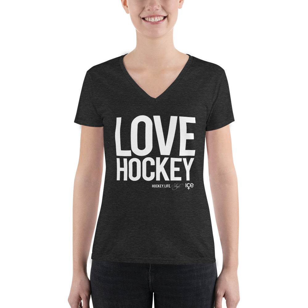 Love Hockey V-Neck (Fitted)