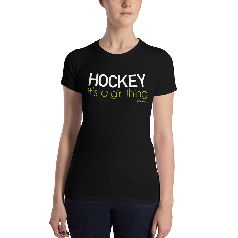 Hockey It's a Girl Thing (Fitted)