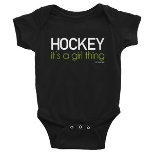 Hockey It's a Girl Thing Baby Onsie