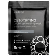 BeautyPro DETOXIFYING Bubbling Cleansing Sheet Mask with Activated Charcoal