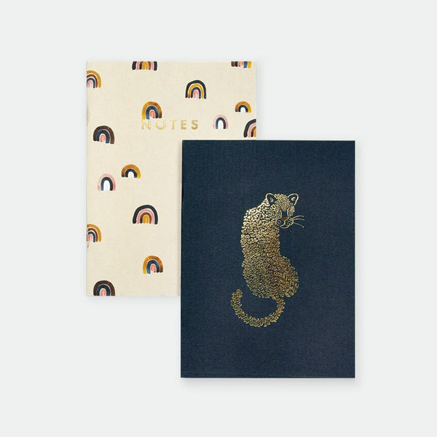 All the ways to say Leopard & Rainbow Pocket Notebook Duo