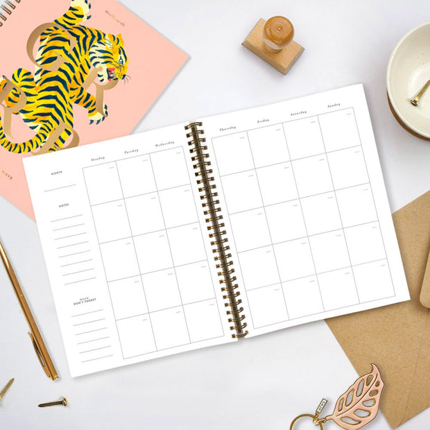 All the ways to say Tiger Monthly Planner
