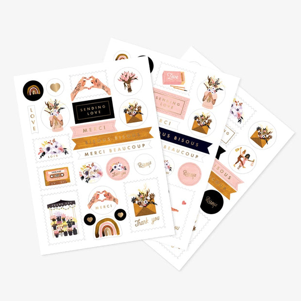 All the ways to say Love & Thank You Stickers - Set of 3