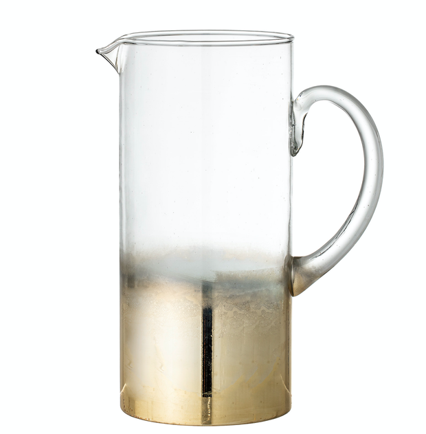 Bloomingville Lustre Gold Glass Jug