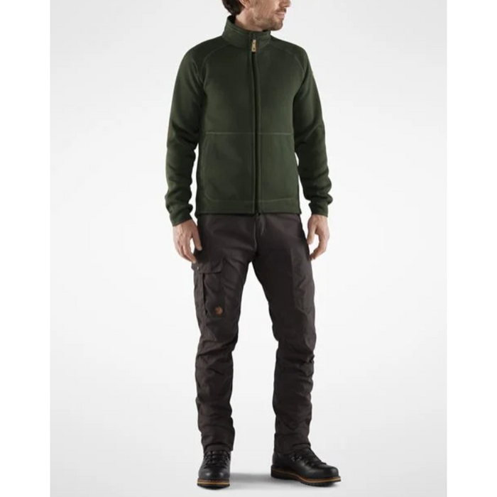 FjallRaven Men's Ovik Fleece Sweater Deep Forest