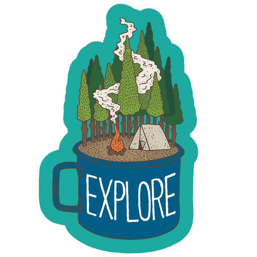 Camp Cup Explore Sticker