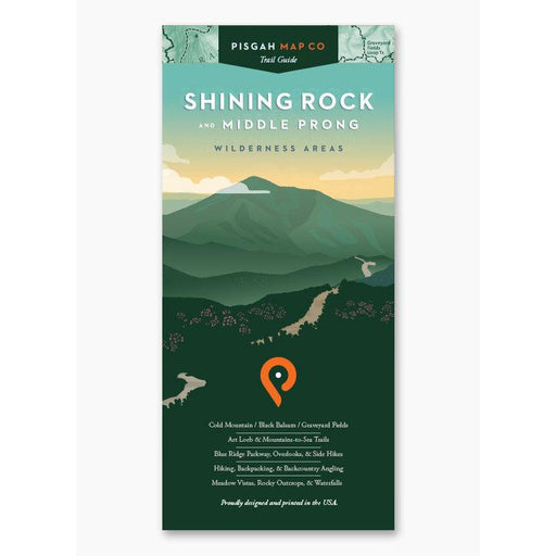 Pisgah Map Co. Shining Rock and Middle Prong Wilderness Areas