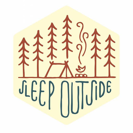 Sleep Outside Sticker