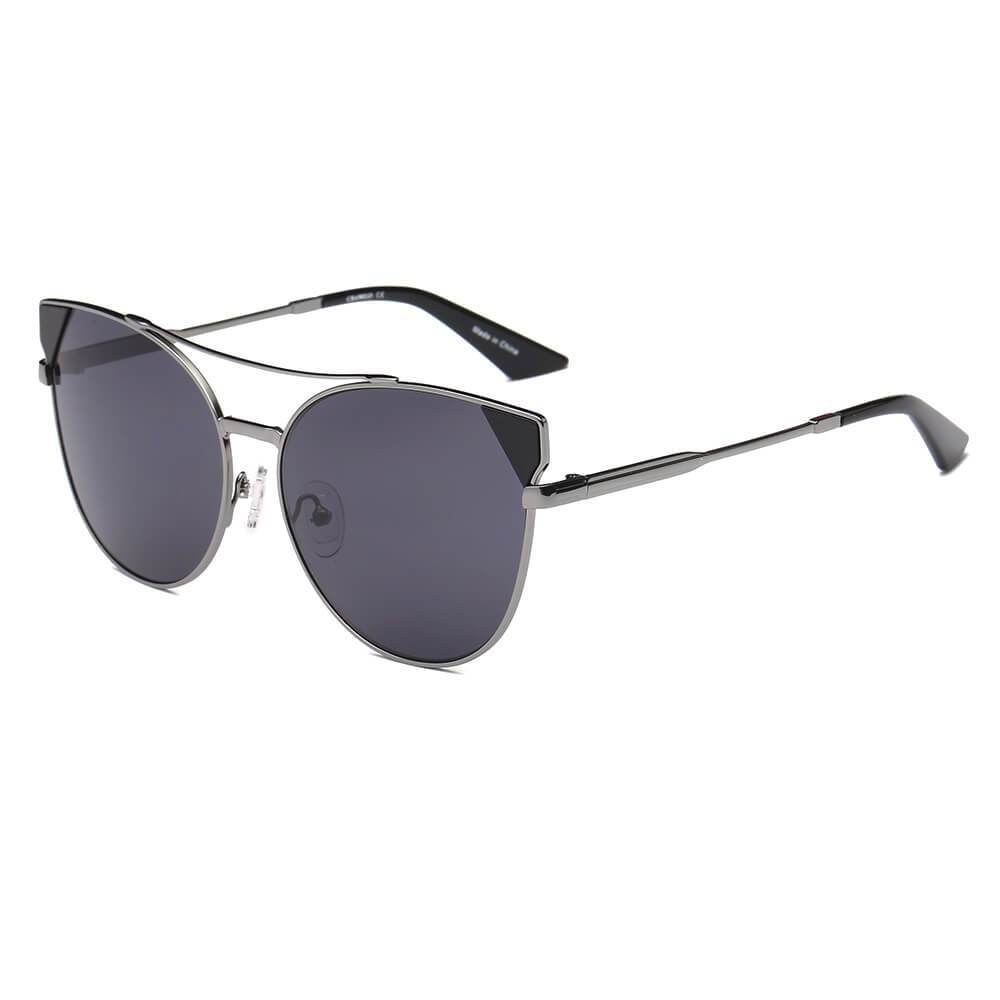 Aspen - Women's Elegant Metal Frame Mirrored Sunglasses by Cramilo Eyewear