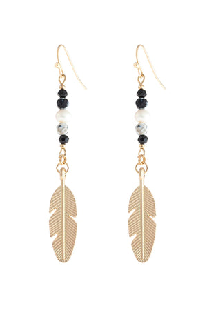 Cast Feather Dangle Earrings - Benn Burry