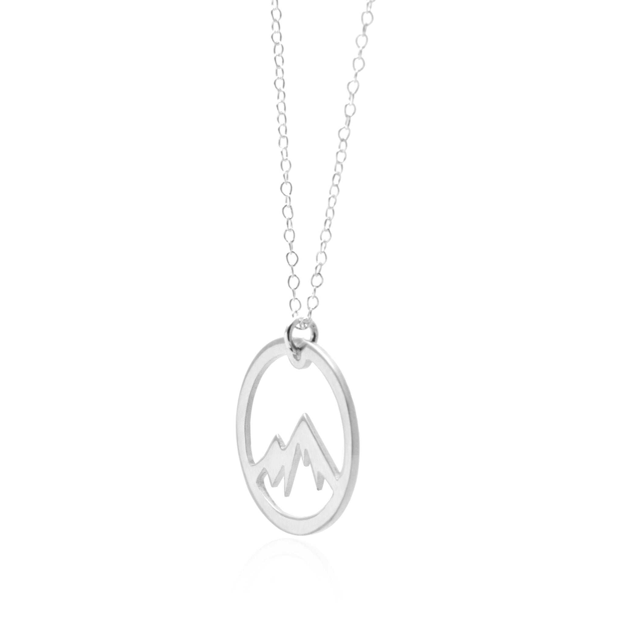 Circle Mountain Sterling Silver Adventure Necklace