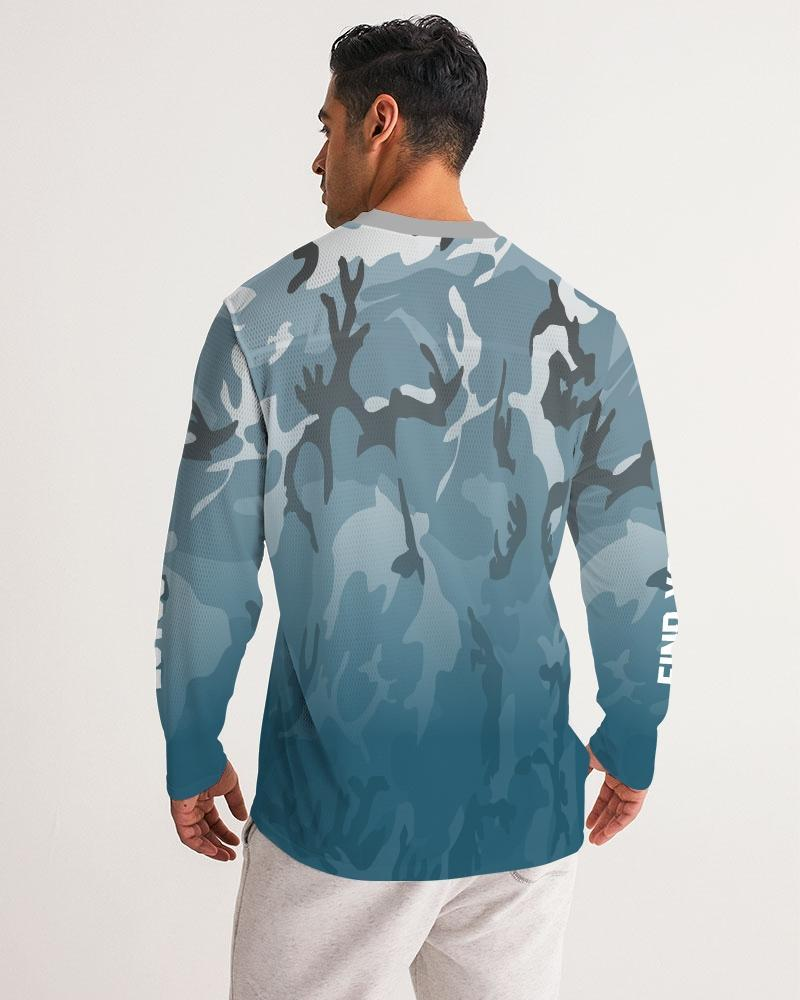 Find-Your-Coast Men's Camo Live Free Long Sleeve Fishing Jersey