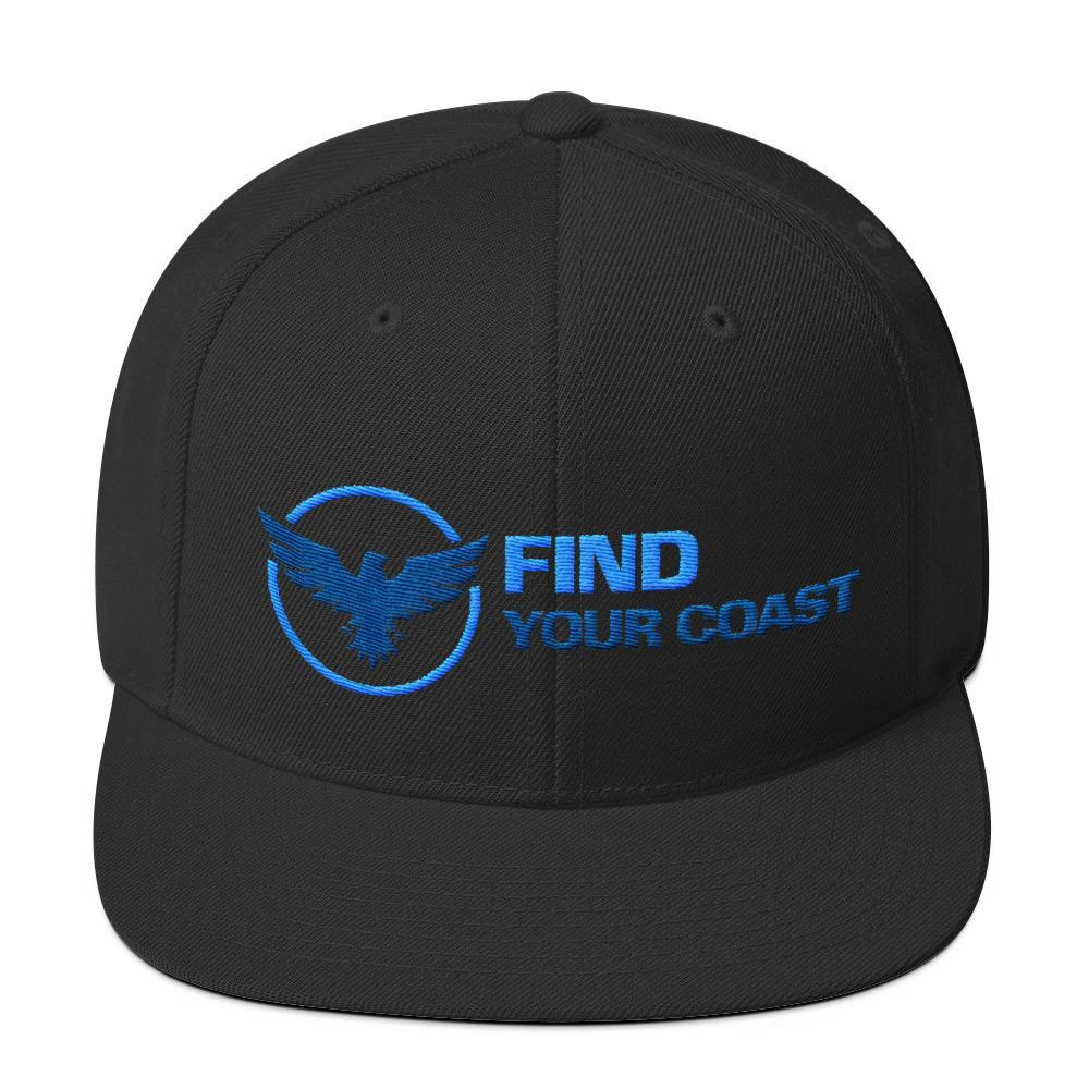 Find-Your-Coast Premium Find Your Coast Snapback Adjustable Hats