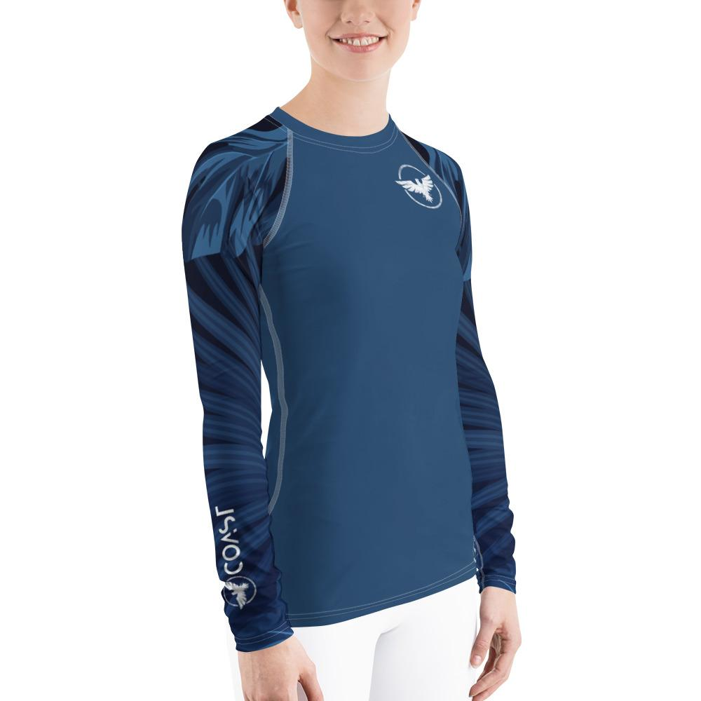 Find-Your-Coast Women's Palm Sleeve Performance Rash Guard UPF 40+