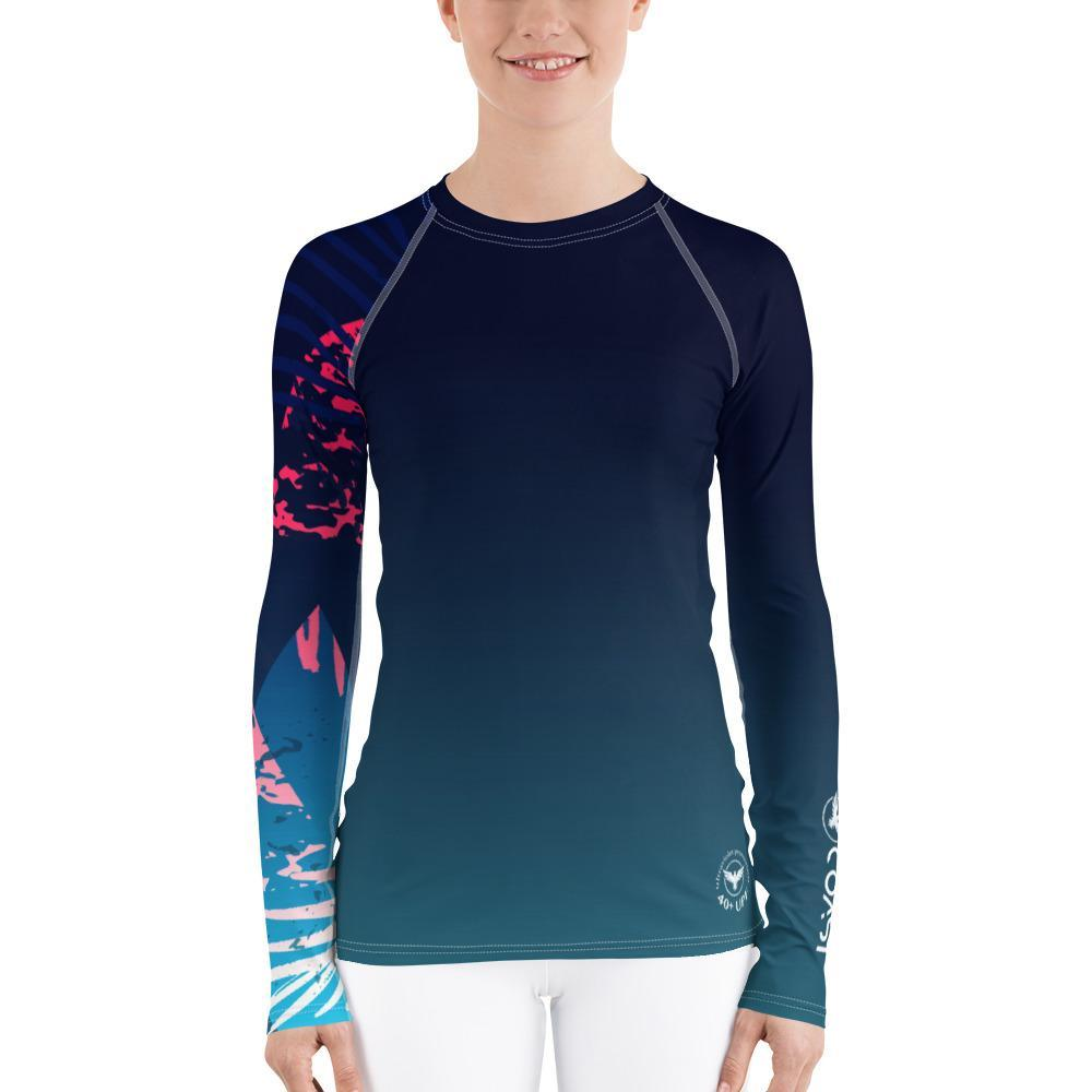Find-Your-Coast Women's Victory Sleeve Performance Rash Guard UPF 40+