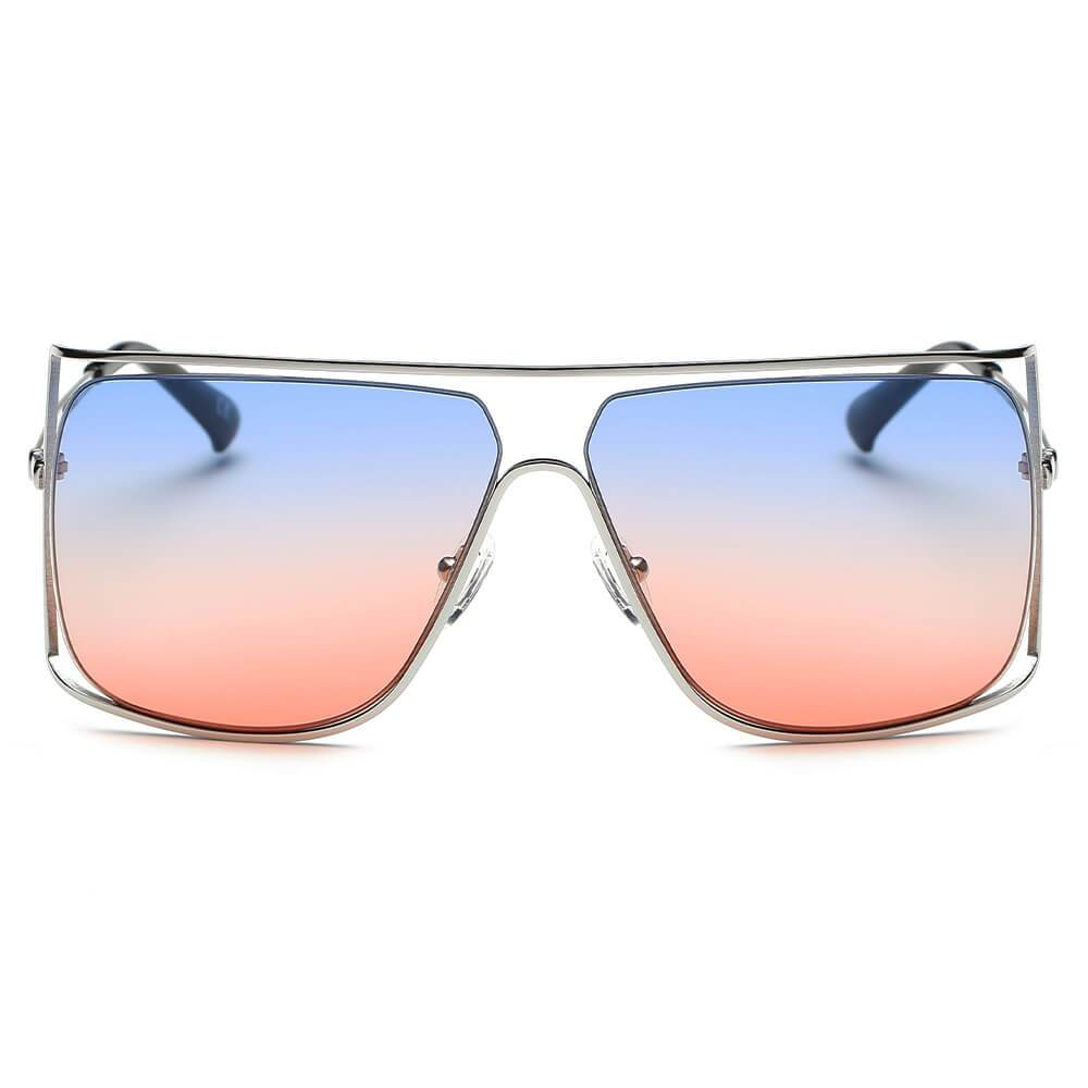 Hamel - Women's Original Metal Frame Colored Lens Sunglasses by Cramilo Eyewear