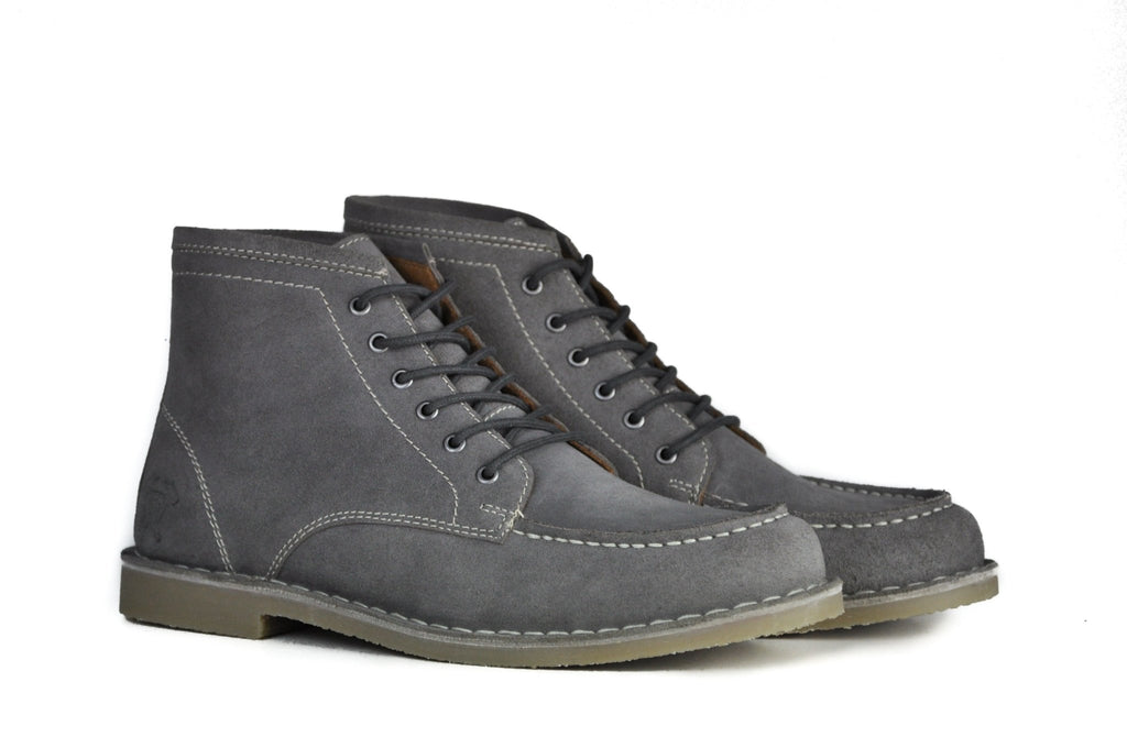 Hound & Hammer The Cooper | Grey Suede Ankle Boots for Men