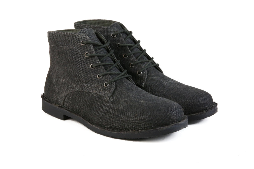 Hound & Hammer The Grover-Vegan | Charcoal Ankle Boots for Men