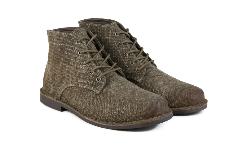 Hound & Hammer The Grover-Vegan | Men's Sage Brown Ankle Boots