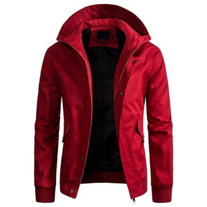 Men's Casual Zipper Windbreaker Jacket with Hood - Benn~Burry