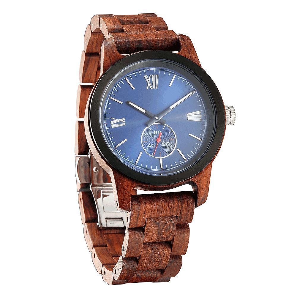 Men's Handcrafted Engraving Kosso Wood Watch - Best Gift Idea! - Benn Burry
