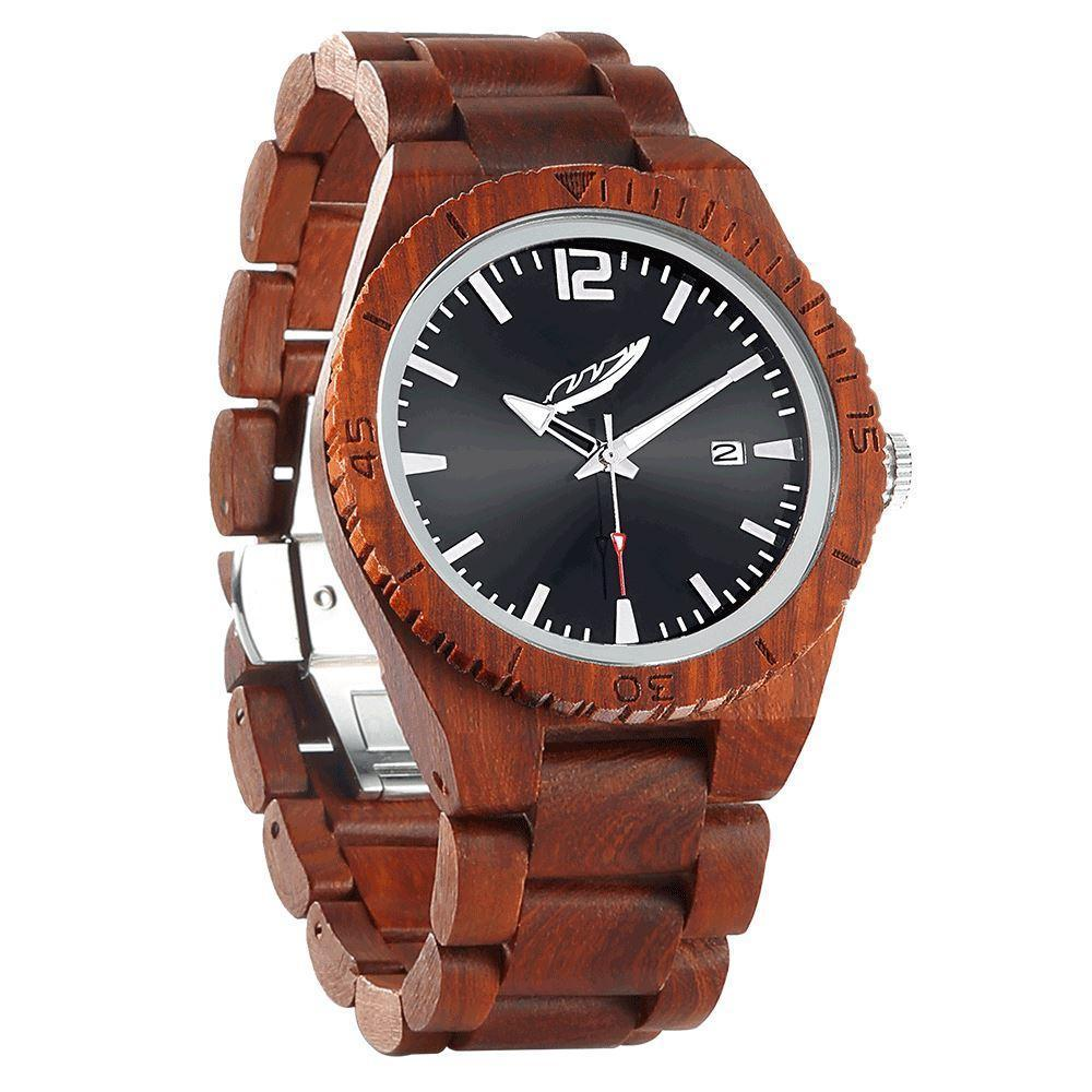Men's Personalized Engrave Rose Wood Watches - Custom Engraving - Benn Burry
