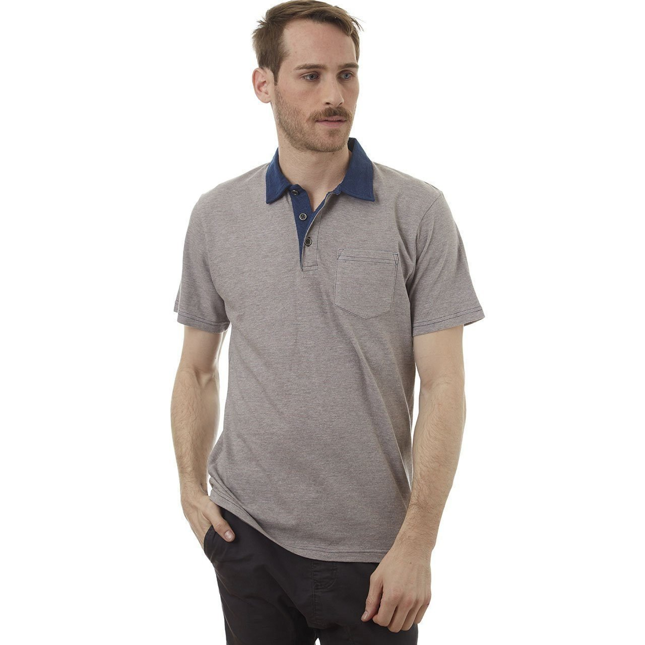 PX Clothing Men's Davis Short-Sleeve Polo Shirt in Red