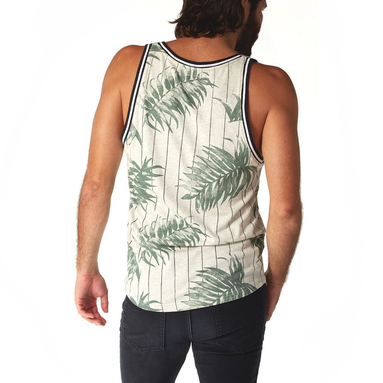 PX Clothing Men's Jonas Ribbed Tank in Green