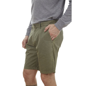 PX Clothing Men's Men's Army Green Adan Dyed Five Pocket Twill Shorts
