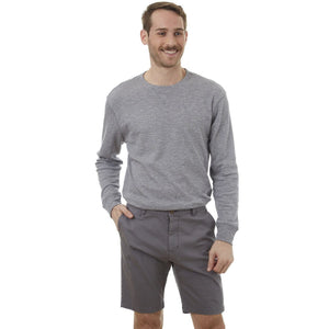 PX Clothing Men's Men's Grey Adan Dyed Five Pocket Twill Shorts