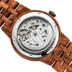 Wilds Wood Men's High End Collectors Dual Wheel Automatic Kosso Wood Watch