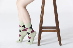 Women's Pistachio Argyle Socks