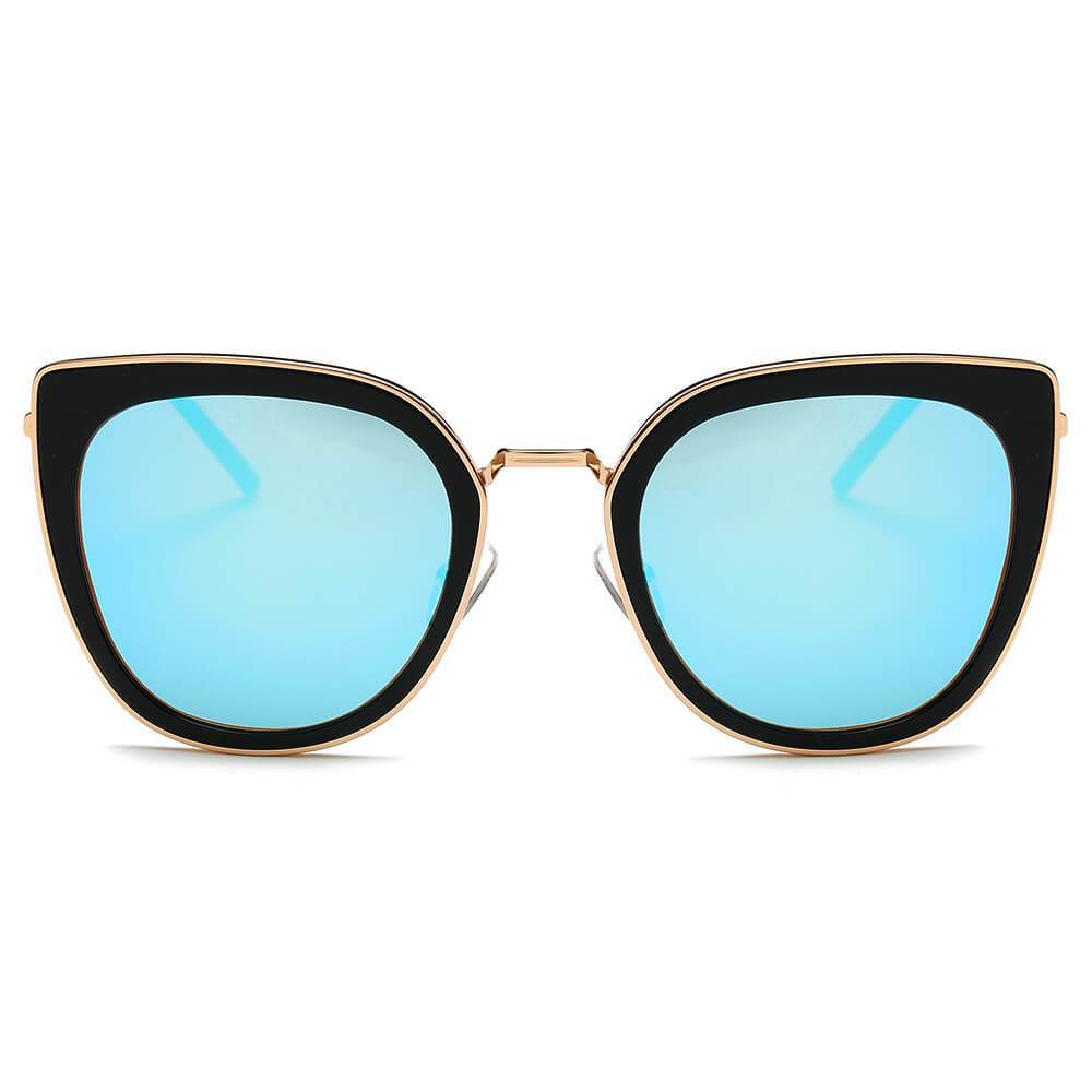 Women's Polarized Colored Lens Cat Eye Sunglasses by Cramilo Eyewear