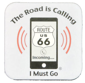 "Route 66 ""The Road is Calling"" Coaster (Pack of 4)"