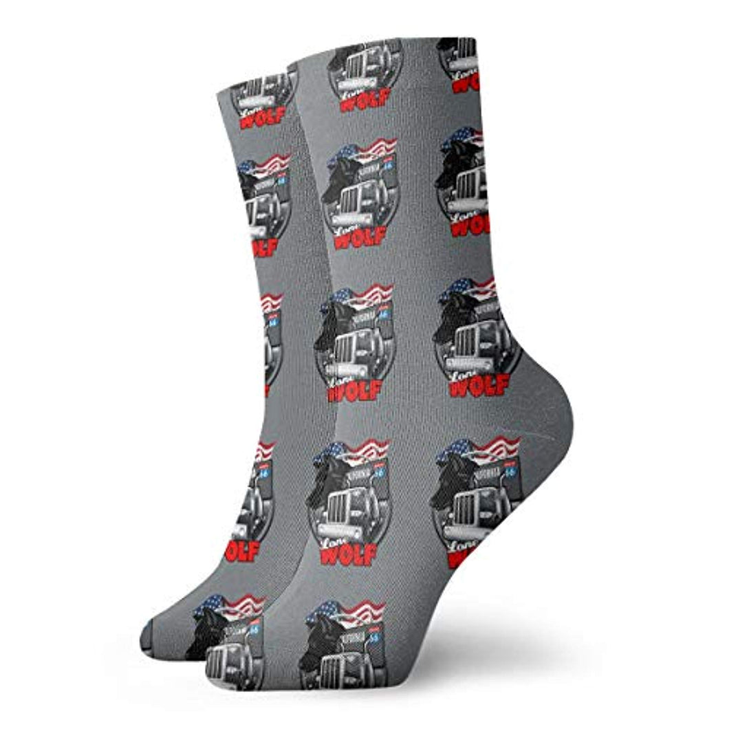 Mens Fashion Performance Polyester Socks Vintage Route 66 Logo Casual Athletic Crew Socks.