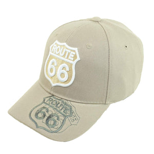 US Route 66 Embroidery Hat Adjustable Mother Road Baseball Cap