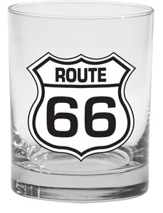 Route 66 Branded Cocktail Glass