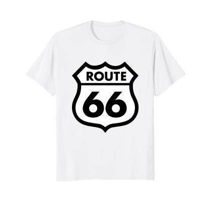 Route 66 tshirt White Highway Sign Shirt